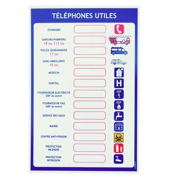 Consigne pour num ros de t l phones utiles - Numero de telephone de la chambre des metiers ...