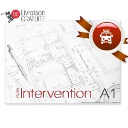 Plan d'intervention plastifié A1