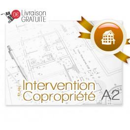 Plan d'intervention plastifié A2 pour copropriété