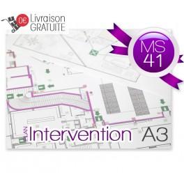 Plan d'intervention plastifié MS41 A3