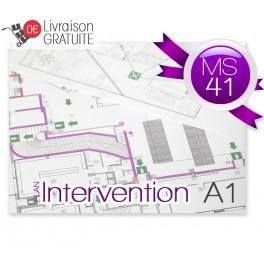 Plan d'intervention plastifié MS41 A1